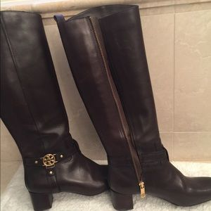 Tory Burch Tall brown leather boots, size 71/2